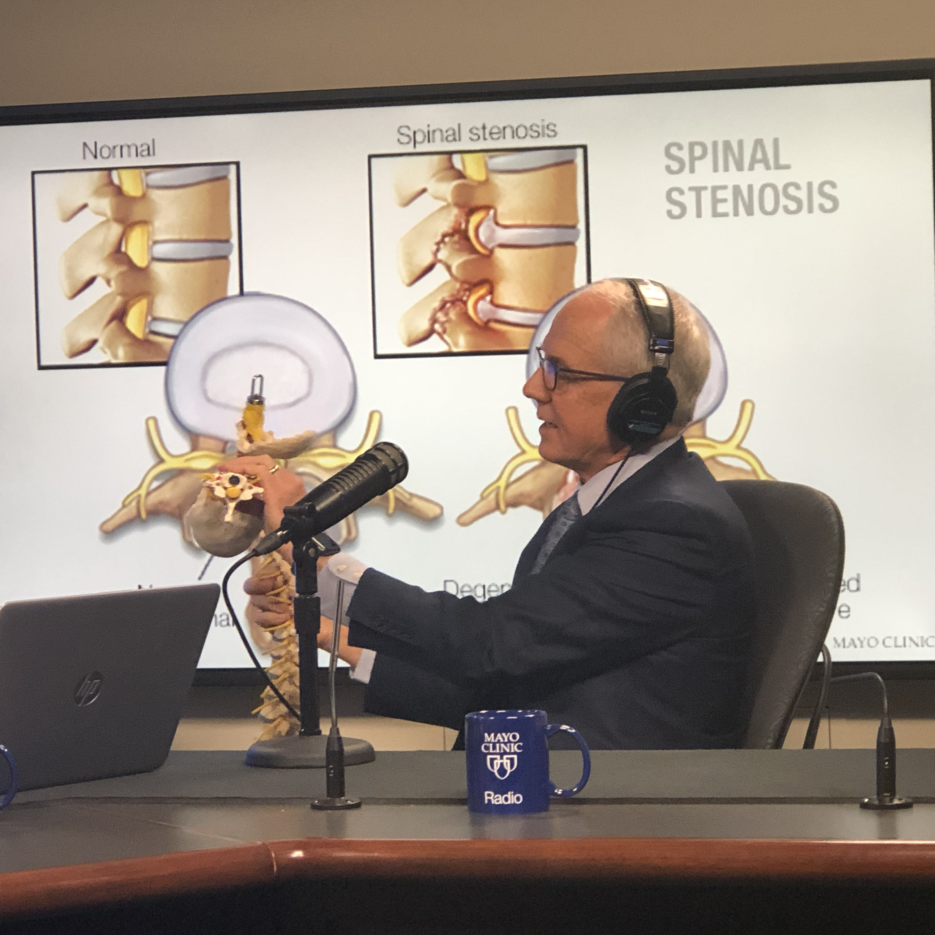 Dr. Bradford Currier being interviewed on Mayo Clinic Radio