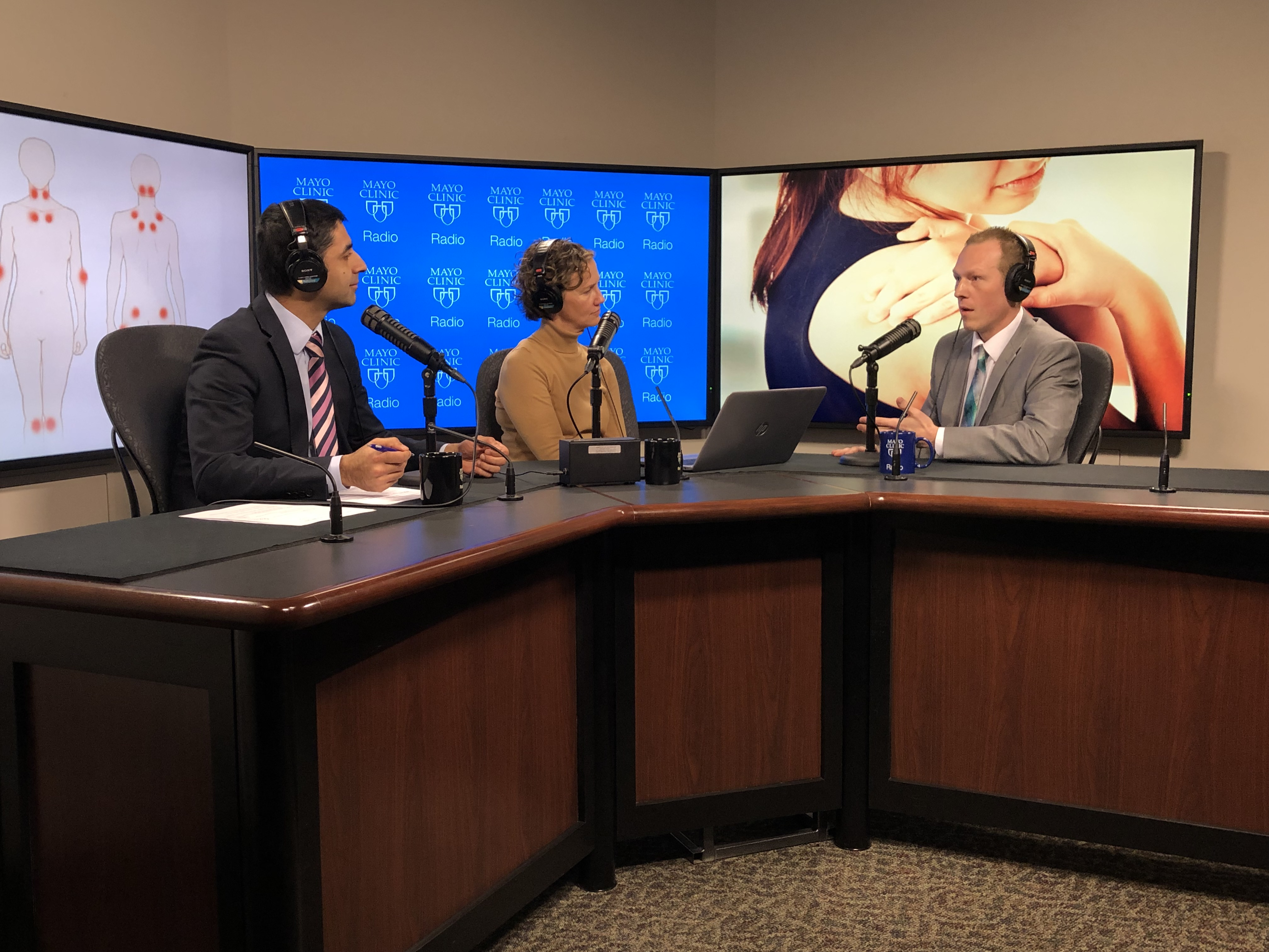 Dr. Christopher Aakre being interviewed on Mayo Clinic Radio
