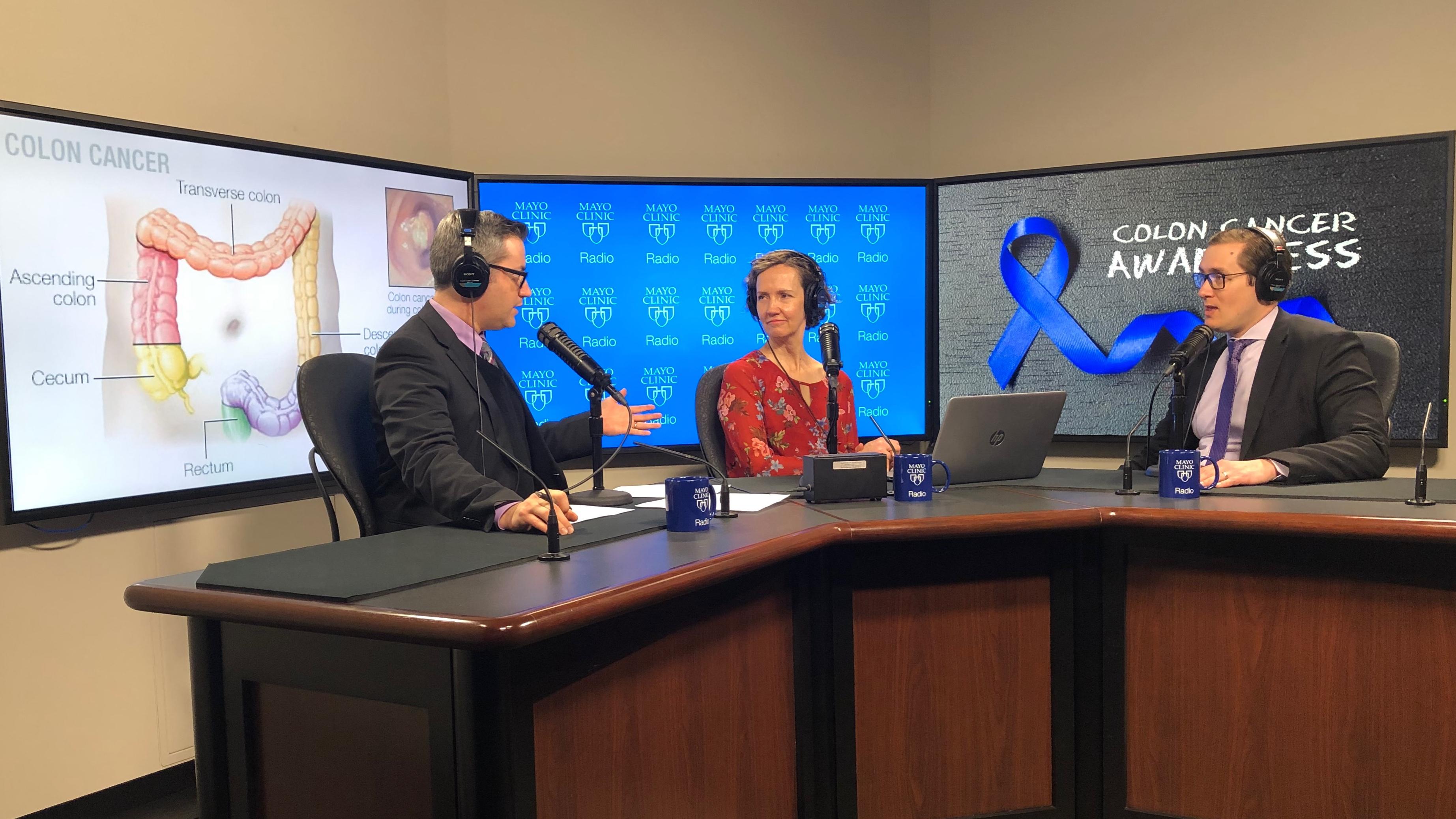 Dr. John Kisiel being interviewed on Mayo Clinic Radio