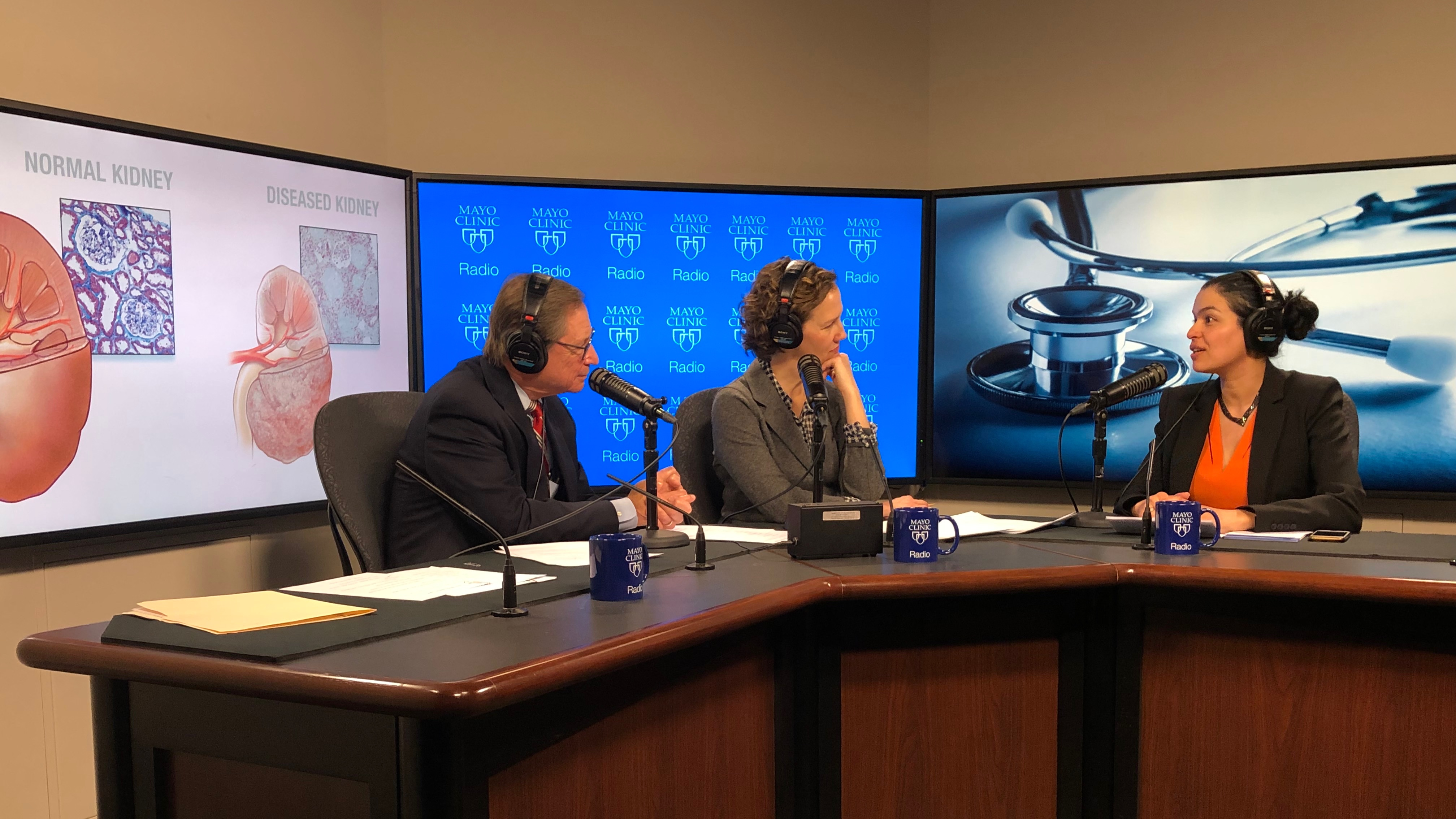 Dr. Ladan Zand being interviewed on Mayo Clinic Radio