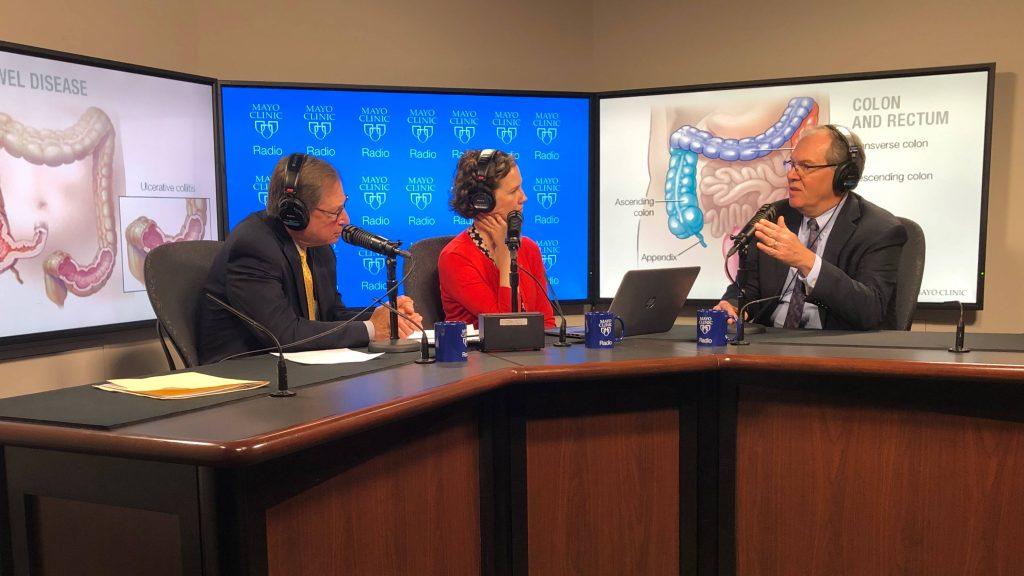 Dr. Edward Loftus being interviewed on Mayo Clinic Radio