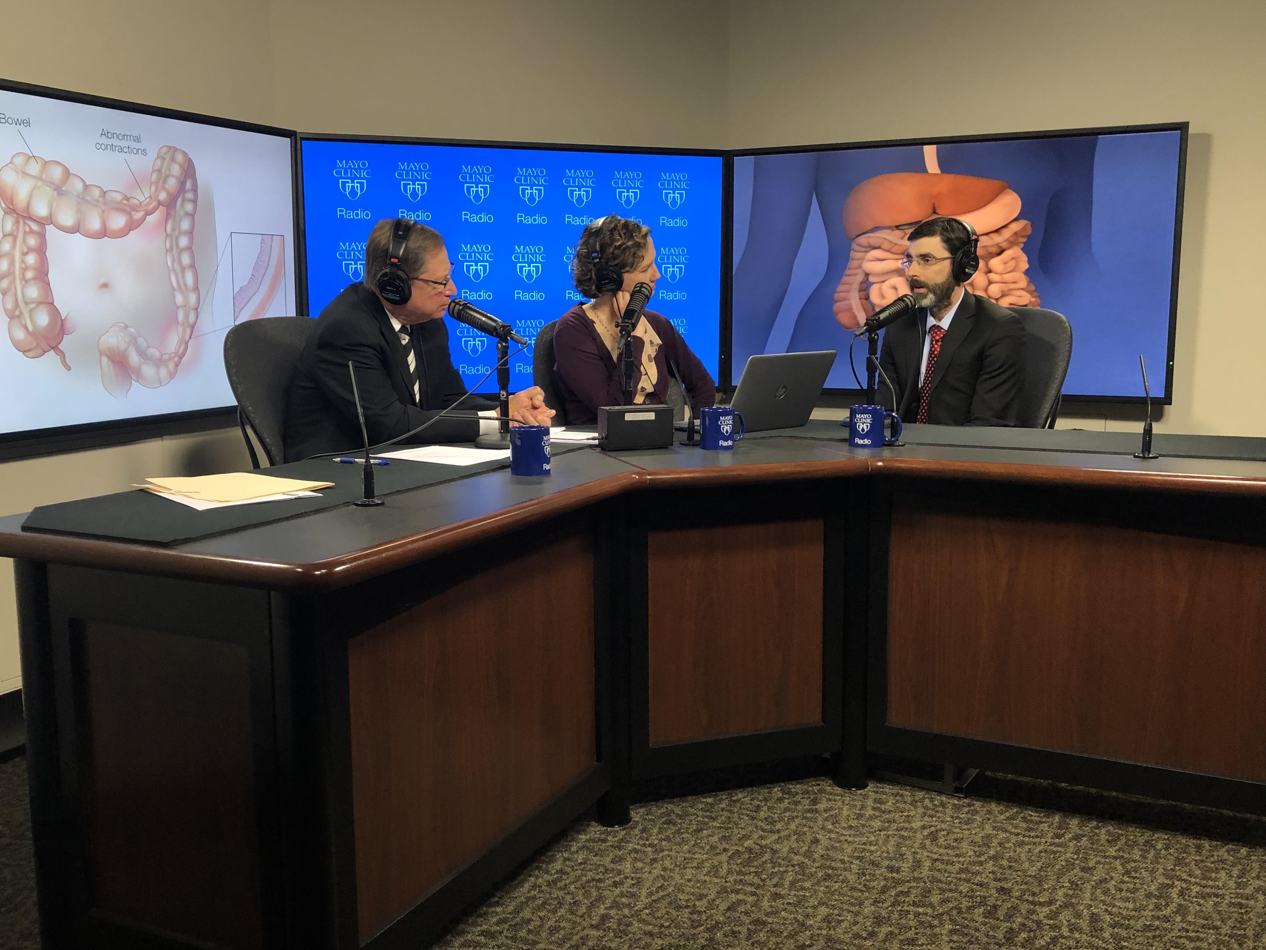 Dr. Robert Kraichely being intervewed on Mayo Clinic Radio