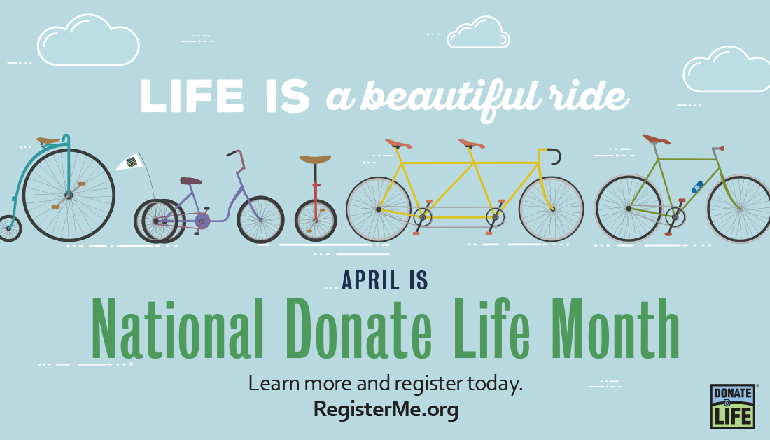 2019 National Donate Life Month banner