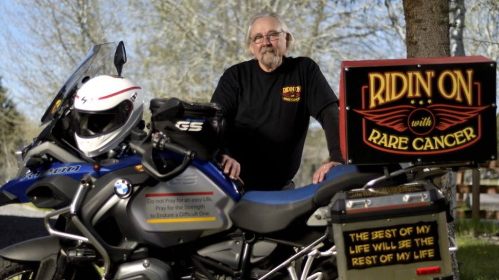 In the Loop interviewee Pat Shannon with his motorcycle
