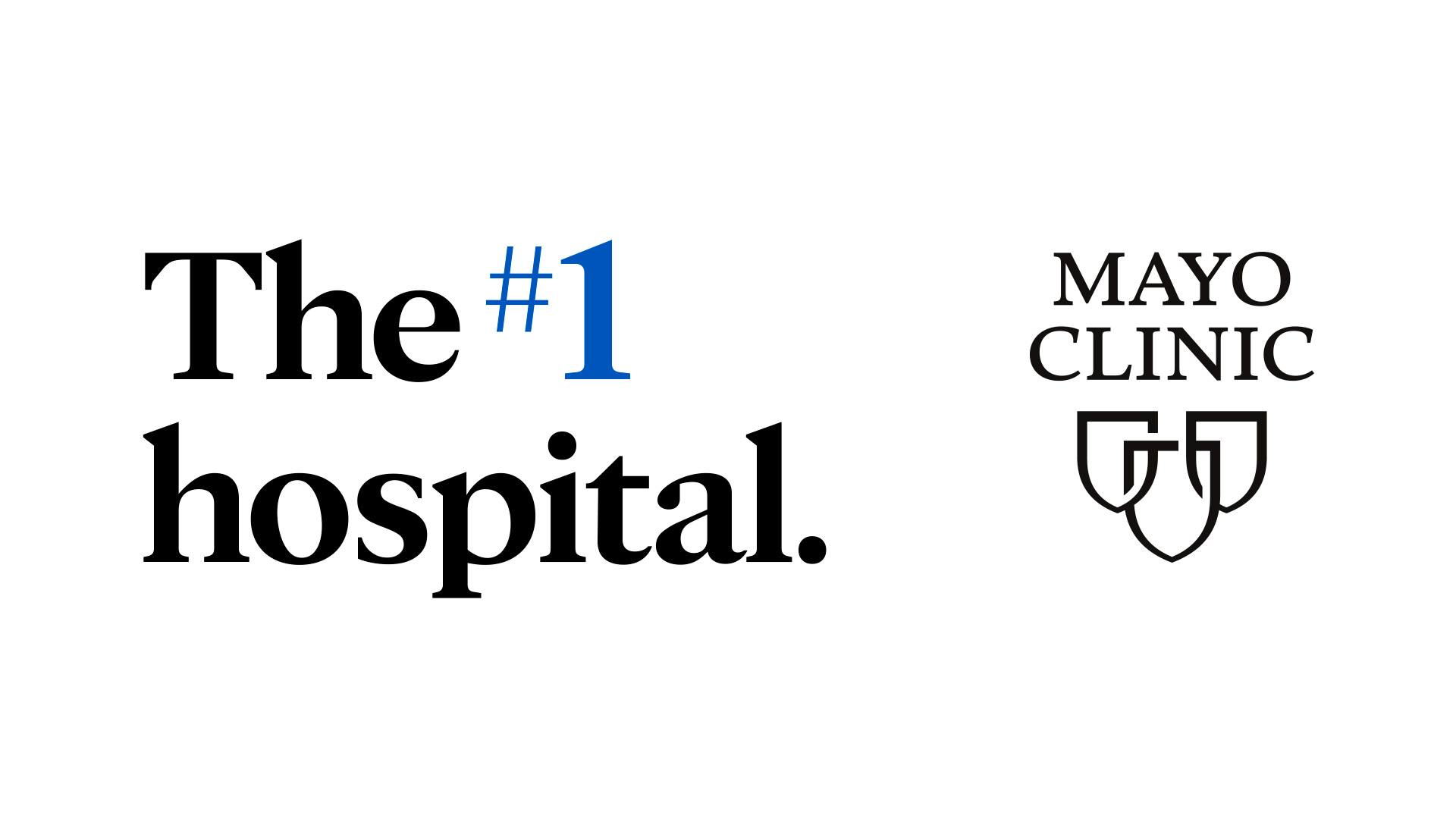 U.S. News & World Report ranking Mayo Clinic as number one hospital