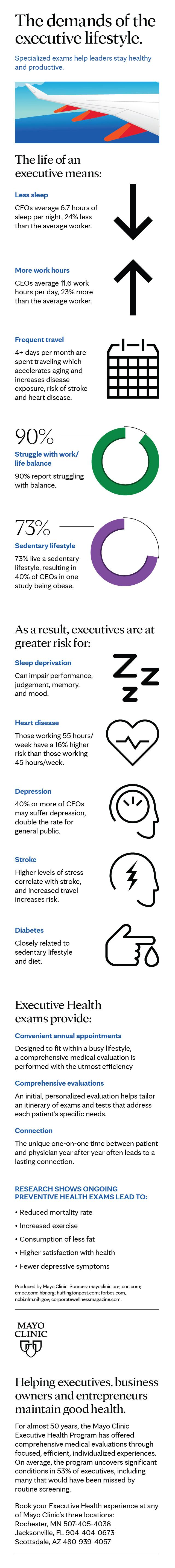 infographic for demanding lifestyle of executives