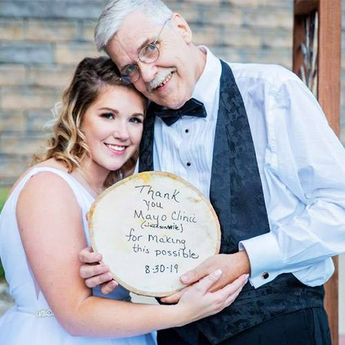 In the Loop patient Chris Nutter and his daughter Mackenzy on her wedding day