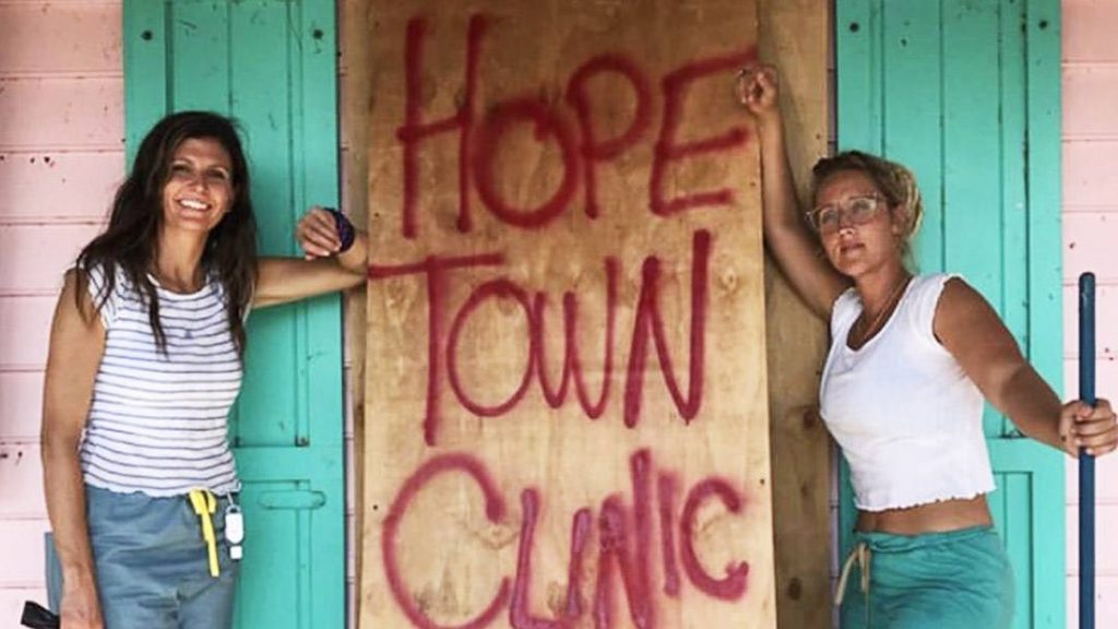 volunteer nurses at Hope Town, Bahamas