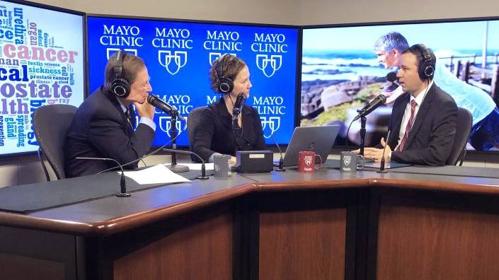 Dr. Derek Lomas in the radio studio being interviewed by Dr. Shives and Tracy McCray (original)