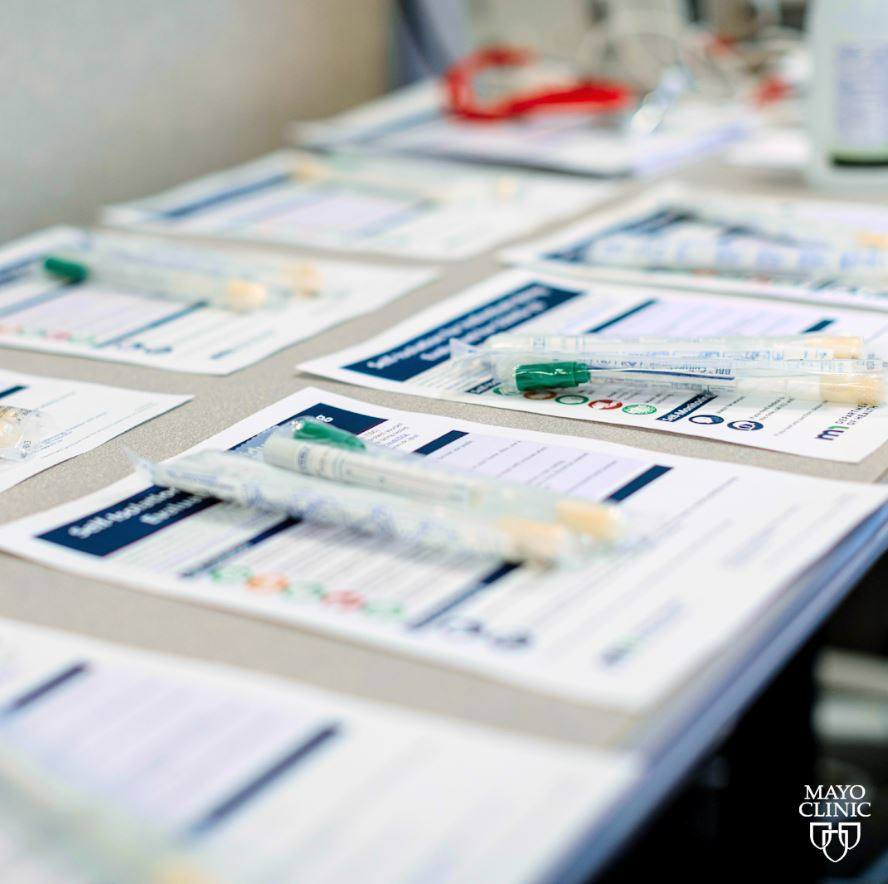 Mayo Clinic specimen collection paperwork