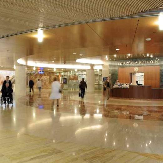 Gonda building subway lobby and information desk mss_697782