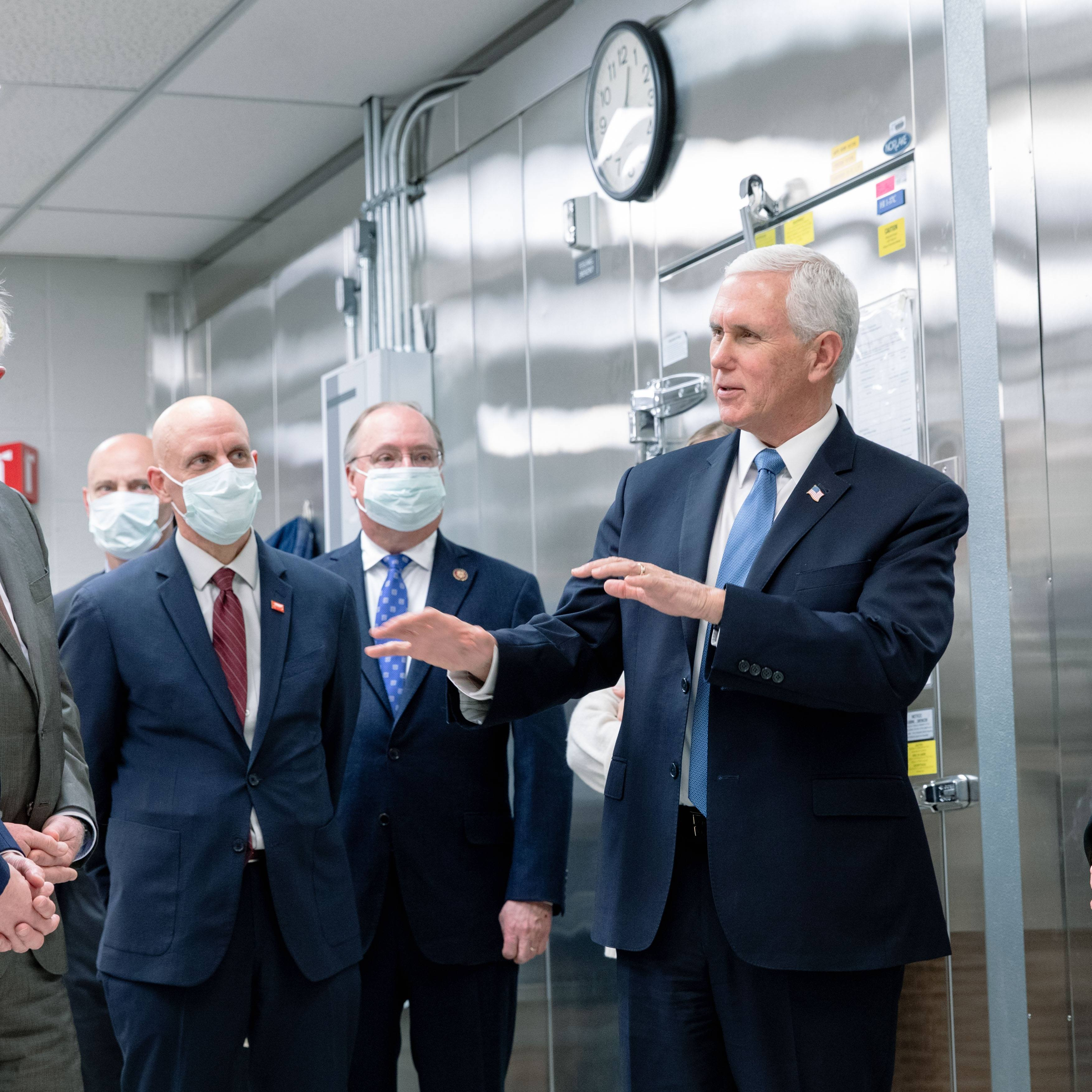 Vice President Pence on the Mayo Clinic lab tour
