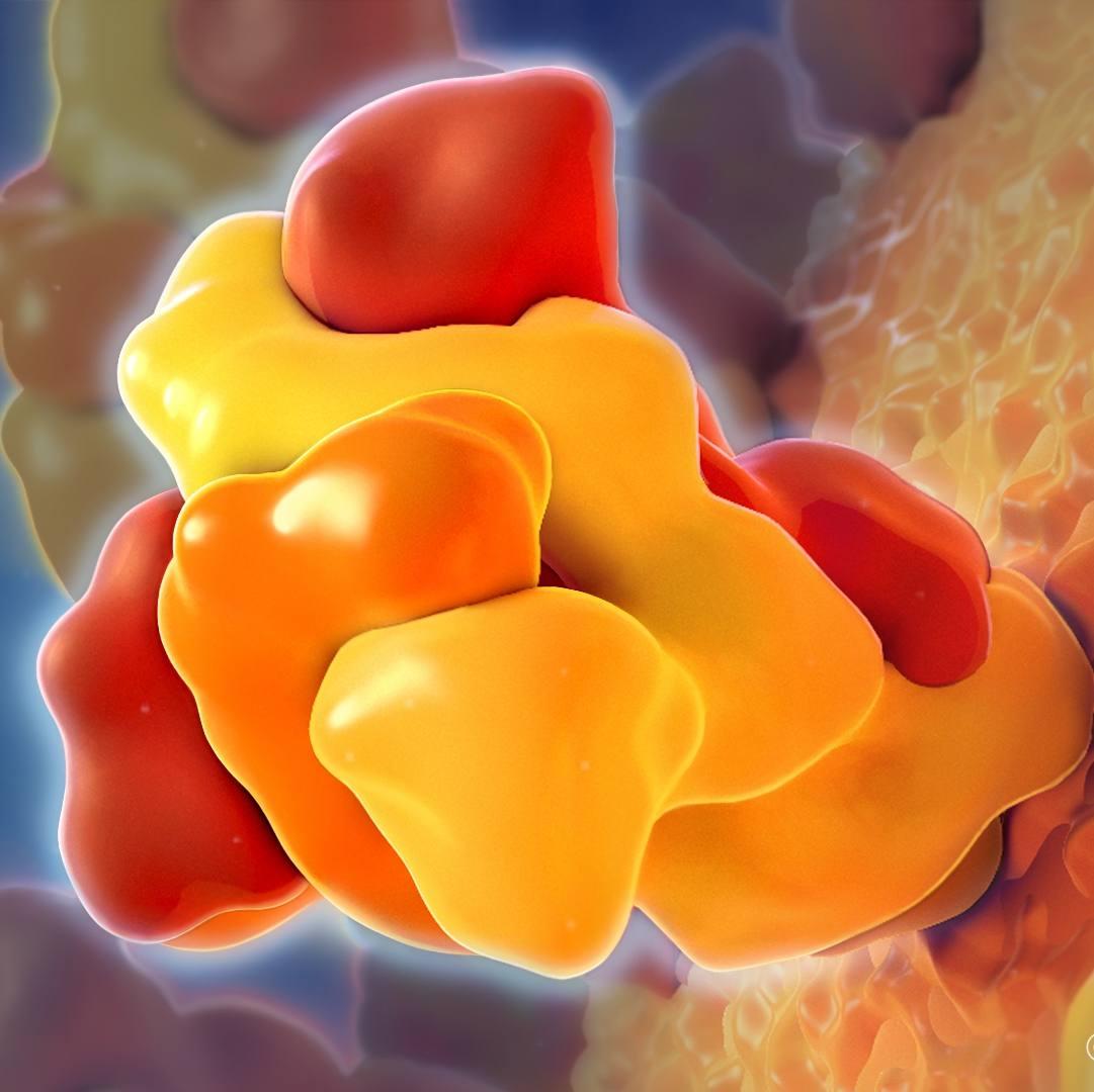 closeup medical illustration of coronavirus spike
