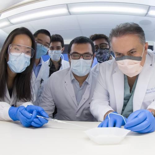 Dr. Oklu and team at work