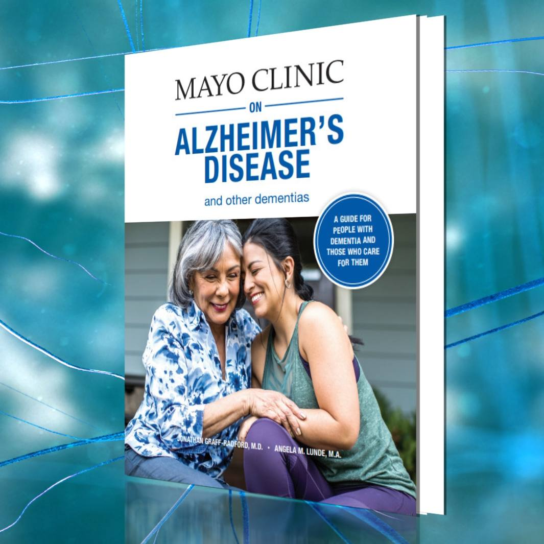 front cover of the new Mayo Clinic Alzheimer's Disease book