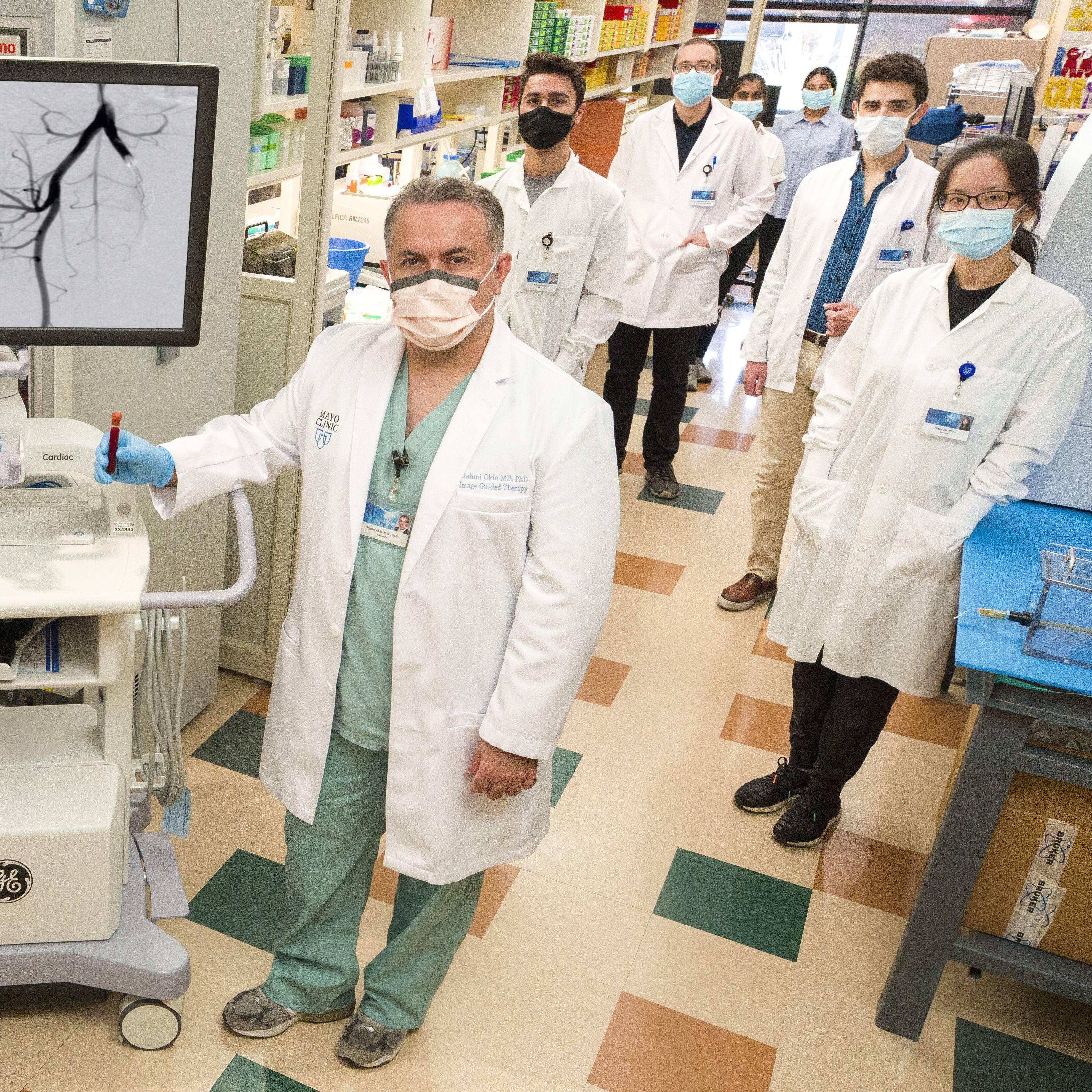Dr. Rahmi Oklu and the Minimally Invasive Therapeutics Laboratory team at Mayo Clinic in Arizona