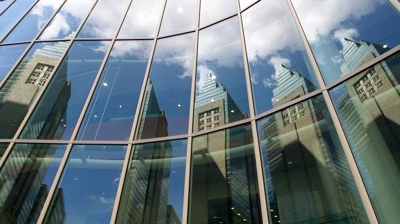 Mayo Clinic Gonda Building windows in Rochester Minnesota