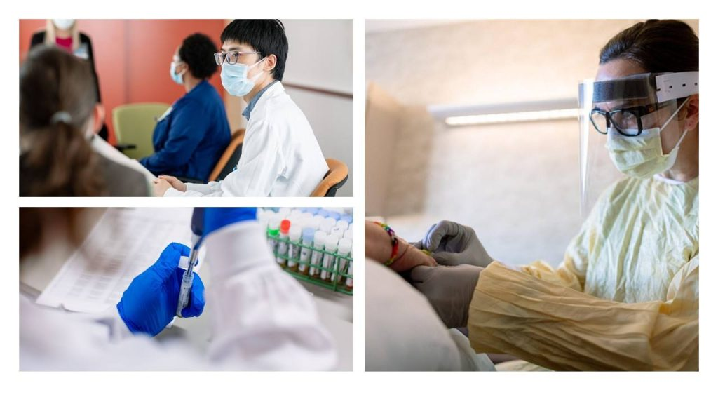 collage of COVID-19 researchers