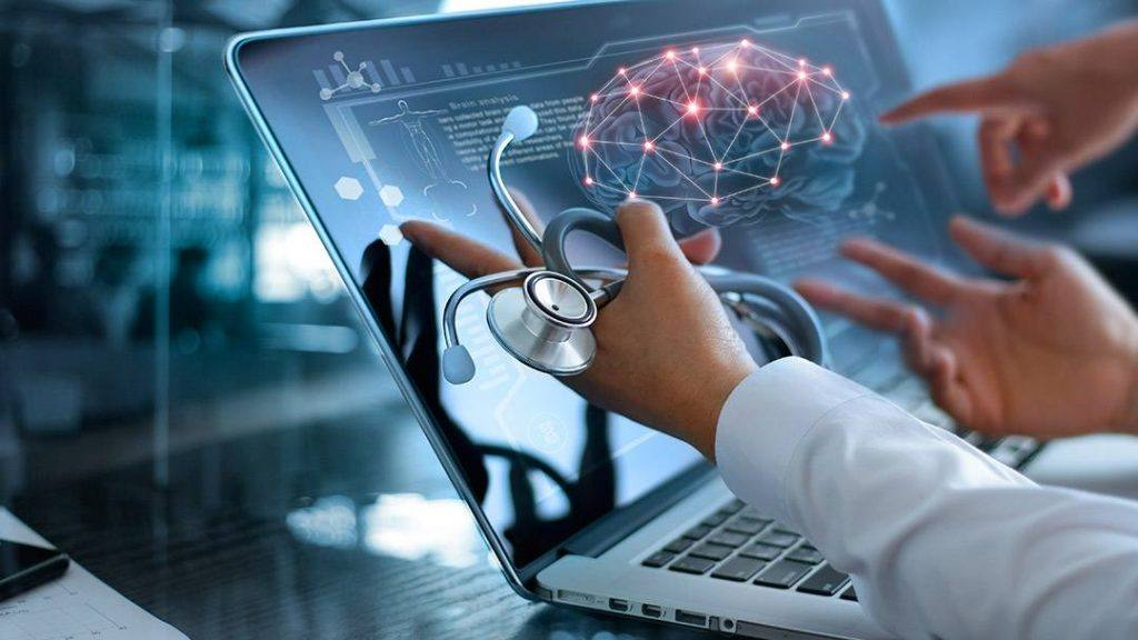 futuristic medical monitor image representing technology, artificial intelligence